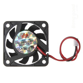 12 В 2 Pin 40 мм Cooler Small Cooling Fan PC Черный F Радиатора