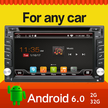 2 г 32 г Quad 4 ядра 800*480 2 DIN Android 6.0 Fit Nissan Qashqai Tiida аудио стерео Радио GPS Wi-Fi DVD Automotivo Универсальный DDR3