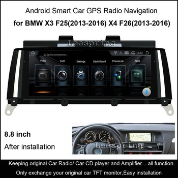 "8.8 ""Touch Android 4.4 автомобиль Радио аудио стерео для BMW X3 F25/BMW X4 F26 (2013- 2016) GPS навигации MP5 Bluetooth, Wi-Fi MirrorLink"